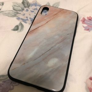 Accessories - iPhone X/XS Marble Tempered Glass Case